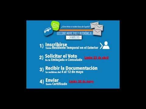 ¿Cómo votar si resides fuera de España? - Elecciones Locales y Autonómicas 2015
