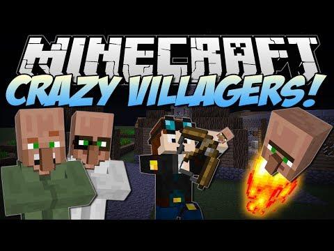 Minecraft | CRAZY VILLAGERS! (Exploding Heads & Villager Bows!) | Mod Showcase
