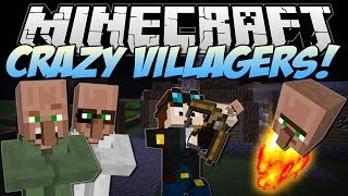 Minecraft | CRAZY VILLAGERS! (Exploding Heads&Villager Bows!) | Mod Showcase