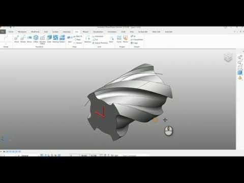 Autodesk PowerShape  - Helical Gear