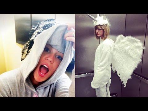 Taylor Swift Copies Miley (Kinda) with 'Pegacorn' Halloween Costume!