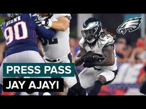 RB Jay Ajayi Discusses His Health, Nick Foles, & More | Eagles Press Pass (видео)