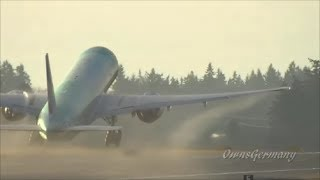 Ethiopian Airlines Boeing 777-300ER Departs KPAE To Victorville