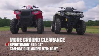 4. Sportsman Shootout: Polaris Sportsman 570 vs. Can-Am Outlander L 570 - Polaris Off Road Vehicles