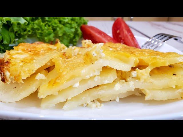 Картофель дофинэ с молоком и сыром - сочный и нежный