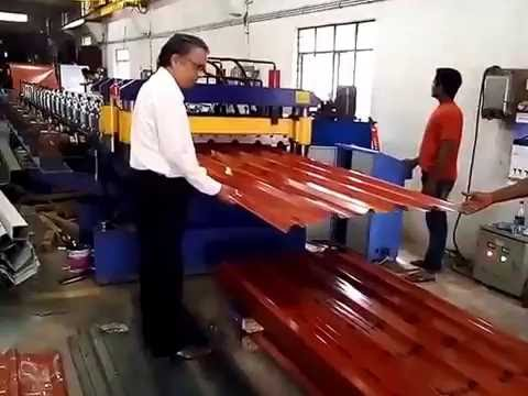 PPGI Roofing Sheet Forming Machine , Rib Sheet Making Machine , Steel Roof Forming Machine