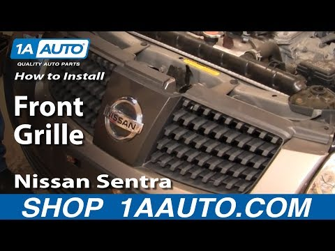 How To Install Replace Remove Front Grille Nissan Sentra 04-06 1AAuto.com