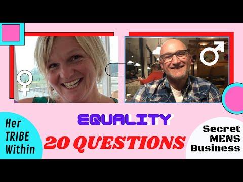 20 QUESTIONS about EQUALITY - Kim High & Joe-y Busuttil - Secret MENS Business (SMB TV).