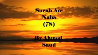 Surah An-Naba By Ahmed Saud