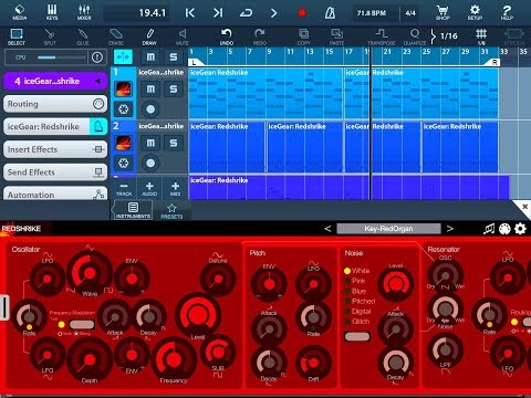 REDSHRIKE Synthesizer by IceWorks Demo for the iPad