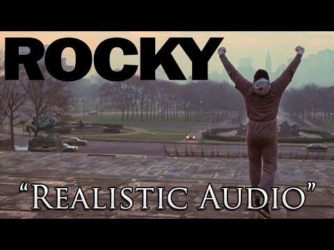 The Classic Stair Scene From Rocky Training with Realistic Audio  No