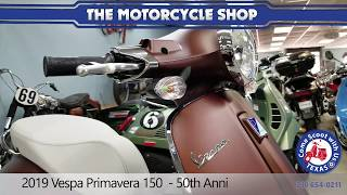 4. New 2019 Vespa Primavera 150 brown motor scooter