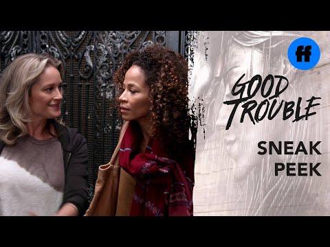 Good Trouble Season 2 Holiday Special | Sneak Peek: Stef & Lena Arrive | Freeform