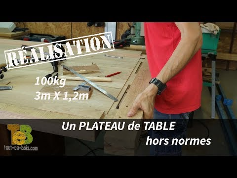 100kg, 3m de long : Fabrication d'un plateau de table aux dimensions hors normes !
