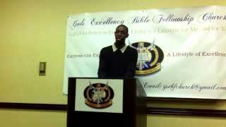 Deacon Johnny Garrett  Words Of Inspiration - At God's Excellency Bible Fellowship Church