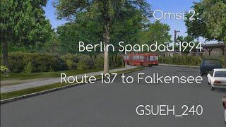 Falkensee Germany  city pictures gallery : Omsi 2: Berlin Spandau 1994 Route 137 to Falkensee GSUEH_240