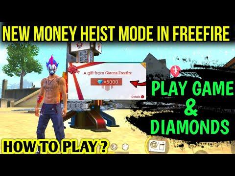 NEW MONEY HEIST MODE IS OP🤑,HOW TO PLAY & WIN THIS MODE,FREEFIRE MONEY HEIST MODE, DIAMOND-CLICKBAIT