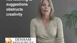 A woman, interviewing for a Marketing position, answers the common interview question: Describe a project you took from start to finish. This is an example o...