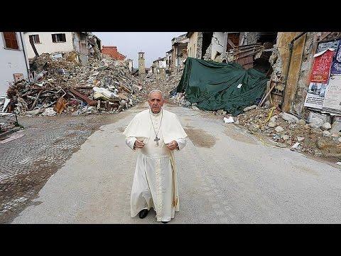 Ιταλία: O Πάπας Φραγκίσκος κοντά στους σεισμόπληκτους του Αματρίτσε