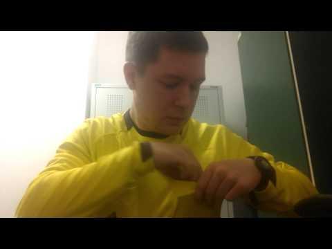 Vorbereitung am Spielort als Schiedsrichter