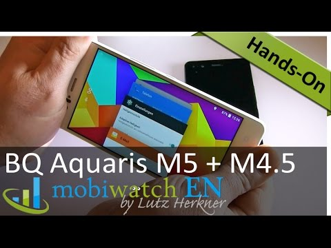 Video Review BQ Aquaris M5 and M4.5: Big Battery, Low Weight