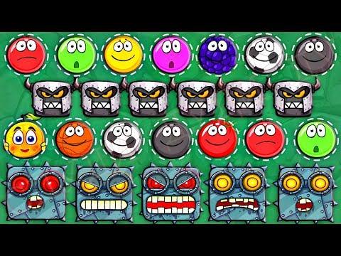 ИГРАЕМ ЗА БОССА - КРАСНЫЙ ШАРИК 4 - НОВЫЙ ПЕРСОНАЖ ! ПОДЗЕМНЫЕ ХОДЫ мультик для детей шар RED BALL 4 (видео)