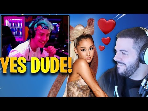 Ninja Reacts to Courage & Ariana Grande Love Story! *HILARIOUS* | Fortnite Highlights