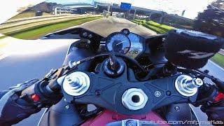 9. Yamaha YZF R1 Crossplane '09 - BRUTAL ACCELERATION !!!