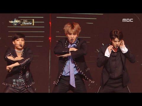 2016 MBC 가요대제전 - 대미를 장식하는 강렬한 특급 무대! EXO의 Louder + Monster 20161231 (видео)