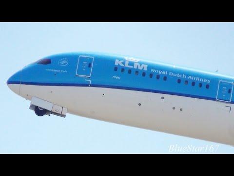 KLM Royal Dutch Airlines Boeing 787-9 (PH-BHA) takeoff from KIX/RJBB (Osaka - Kansai) RWY 06R