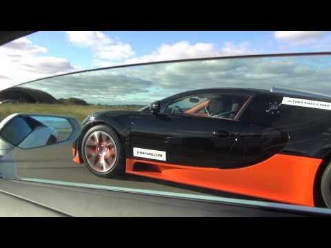 lamborghini lp700-4 aventador vs bugatti veyron vitesse - testa a testa