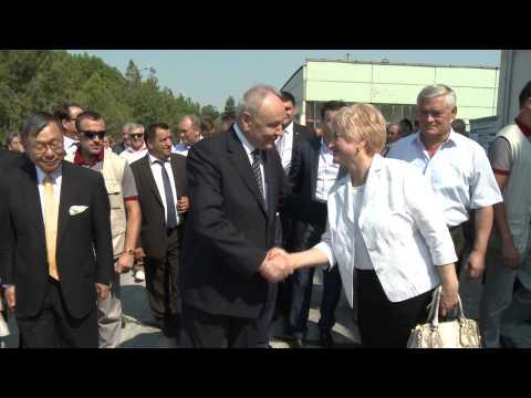 Președintele Timofti a participat la inaugurarea fabricii de Producere a peleților din Biomasă din satul Pașcani, Criuleni