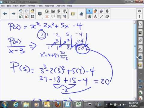 Concept   Remainder and Factor Theorems 6 6