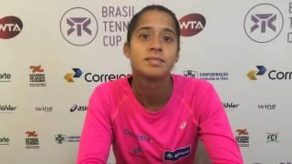 Teliana Pereira vai às quartas de final do Brasil Tennis Cup