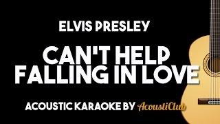 Video Elvis Presley - Can't Help Falling in Love (Acoustic Guitar Karaoke Lyrics on Screen) MP3, 3GP, MP4, WEBM, AVI, FLV Januari 2018
