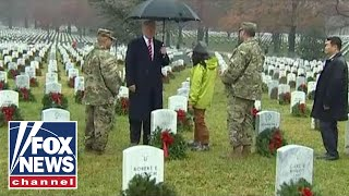 President Trump takes part in Wreaths Across America