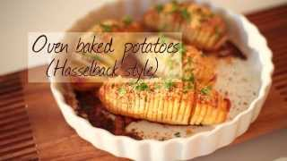 Try this Swedish version of roast potatoes with cheese http://allrecipes.com.au/recipe/26188/oven-baked-potatoes--hasselback-style.aspx Hasselback potatoes ...