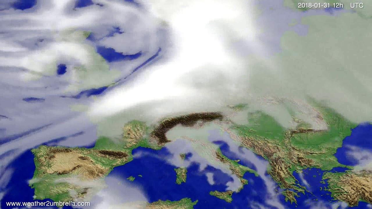 Cloud forecast Europe 2018-01-29