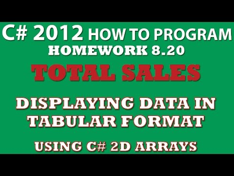C# Programming Challenge 8.20: Total Sales (C# 2 dimensional arrays, tabular format output)