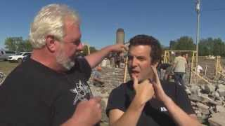 Canadian celebrity Rick Mercer speaks with Irish wallers