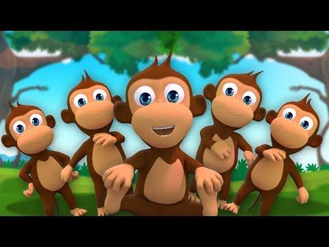 Affe Finger Familie | Kinderreime in Deutsch | Monkeys Finger Family