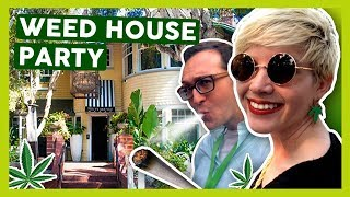 Inside a WEED HOUSE PARTY! (Emerald Exchange Harvest Mixer) by That High Couple