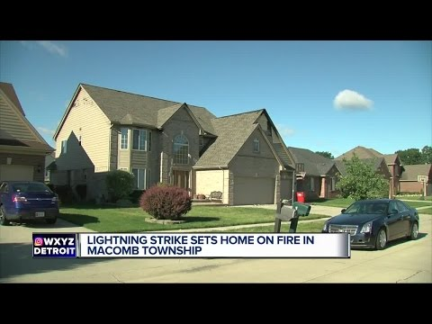 Lightning strike sets home on fire in Macomb Township
