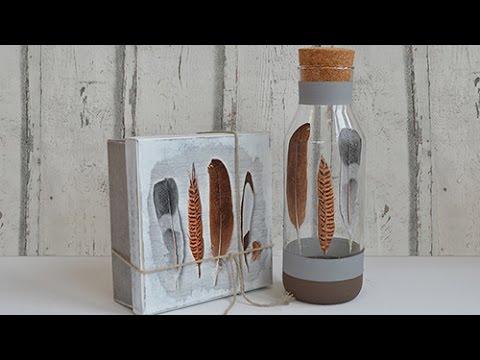 DIY Serviettentechnik im Vintage Style mit Viva Decor Chalky und Servietten Kleber und Lack