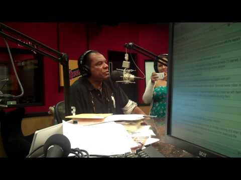 Comedian John Witherspoon interviews on the Tom Joyner Morning Show