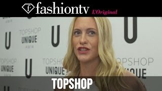 Kate Moss At Topshop Unique Fall/Winter 2014-15 | London Fashion Week LFW | FashionTV