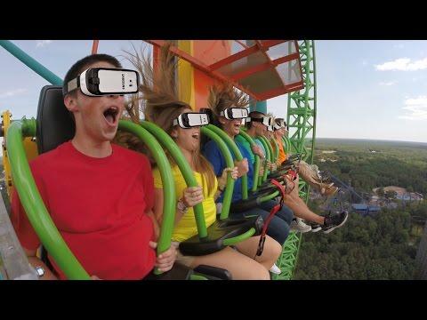 Drop of Doom VR on Zumanjaro at Six Flags