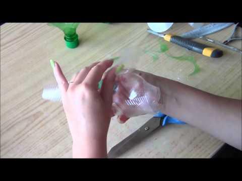 Видео из пластиковых бутылок своими руками мастер класс