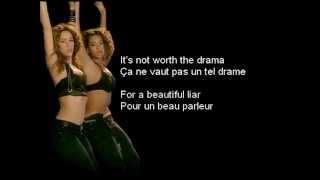 Beyonce et Shakira - Beautiful Liar (Lyrics/Traduction)