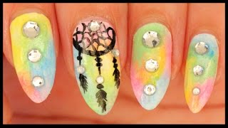 Dreamcatcher nail art ft. BANGGOOD.com - YouTube